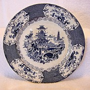 Awesome English Deep Blue Transferware with Oriental Design ~ Charles Allerton & Sons