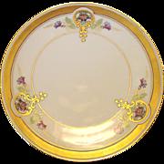 "Pickard Studio Hand Painted Art Nouveau Purple Morning Glory Design Porcelain Plate 6 ¾"" – 1912-1918"