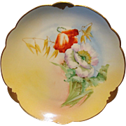 """SALE Wonderful Bavarian Porcelain Cabinet Plate ~ Hand Painted by Pickard Artist  """" Florence"""