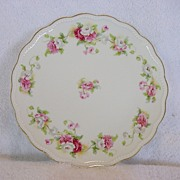 Nice Limoges Porcelain Cabinet Plate Studio Decorated with White,Pink & Red Poppies ~ A LANTERNIER 1891-1914