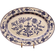 SALE Gorgeous Blue Onion Pattern Platter by VILLEROY & BOCH (Dresden, Germany) - ca 1874 - ...