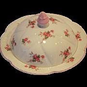 Shelley Bone China Muffin Holder Dish / Butter Dish ~ Rose Spray / Bridal Rose Pattern 13545~