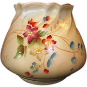Gorgeous English Squat Vase ~ Hand Painted with Magenta and Blue Flowers ~ 958 ~ Royal Worcester of England 1912