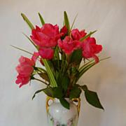 SALE Adorable Little Bavarian Porcelain Vase Hand Painted with Pink Roses ~ Artist signed ~ Ba