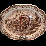 "SALE Wonderful Turkey Platter ~ 20 1/2"" ""His Majesty"" ~ Pat'n Pending ~ ..."
