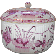 Meissen Marcolini Period Sugar Bowl and Cover Indian Painting Decoration