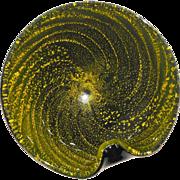 Mid-Century Italian Cased Art Glass - Foil Spiral Galaxy