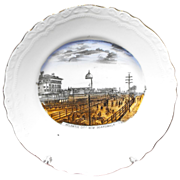 The 'New' Atlantic City Boardwalk Large Souvenir China Plate