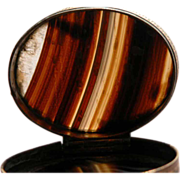 SALE Agate Snuff Box Scottish Banded Agate 19th Century Accessories