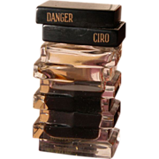 SALE Perfume Bottle Ciro Crystal Glass Bakelite Top Danger Scent