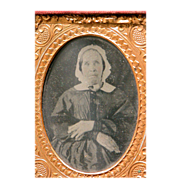 SOLD Tin Type Photo Frame of Woman Great Picture for Doll House