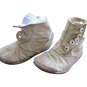 SALE Baby Doll Shoes White Leather with Shoe Buttons