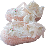 SALE Doll Shoes Crocheted for Baby Small