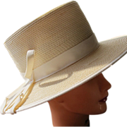 SALE Vintage Straw Hat in Good Condition