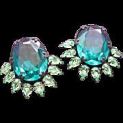 SALE Rhinestone Earrings Green from X-Playboy Bunny