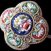 SALE Mini Micro Mosaic Pin Button Italy Great Condition