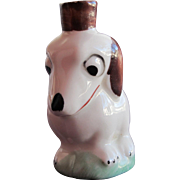 SALE Perfume Bottle Crown Top Figural of Porcelain Dog