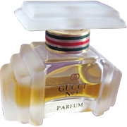 Perfume Bottle by Gucci Mini Bottle with Frosted Glass Art Deco Style