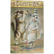 SALE Post Card Funny Cats Artist Signed Maurice Boulanger Tucks