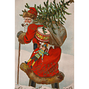 SOLD Santa Post Card in Great Used Condition