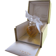 Lalique Signed Nina Ricci Boxed Crystal Perfume Bottle L Air de Temps Six Inches Unopened
