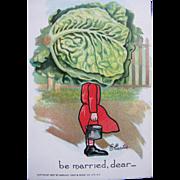 SALE Tucks Post Card Valentines Series Patch Garden Artist Signed Unused