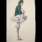 SALE Rare Post Card Artist Signed Penot Parisian Printer  Unused