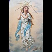 SALE Post Card with Angel of Faith