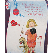 SALE 1905 Valentine's Day Post Card Illustrator Outcault
