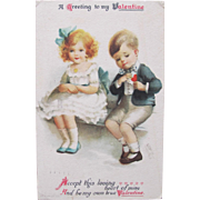 SALE Valentine's Day Post Card Ellen Clapsaddle Illustrator