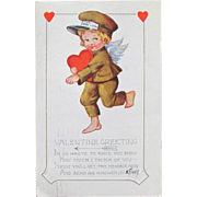 SALE Vintage Valentine's Day Card Whitney