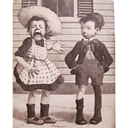 Post Card Funny Caption with Comical Children
