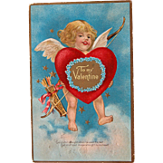 SALE Winsch Valentine's Day Post Card Embossed