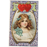 SALE Valentine's Day Post Card Frances Brundage Illustrator Germany