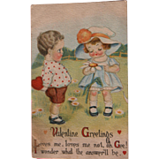 SOLD Valentine's Day Post Card by Winsch USA 1908 Loves Me