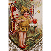 SALE Vintage Valentine's Day Card Opens Whimsical Fairy