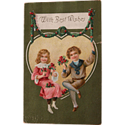 Valentines Day Post Card Germany Embossed