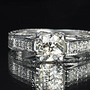 SALE 1.35 Carat Old European Diamond Solitaire / .89 Center / EGL Cert.