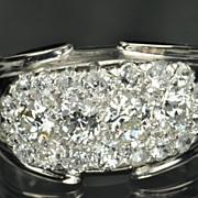 SALE 2.5 Carat Old Mine Cut Diamond Cluster Band / CLEARANCE SALE!!!