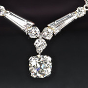SALE 2.69 Carat Old European Cut Diamond  Necklace