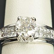 SALE 1.92 Carat Diamond Engagement Ring / 1.04 Center