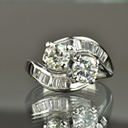 1.55 Carat Twin Diamond Ring