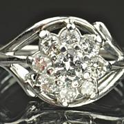 1 Carat Flower Cluster Ring