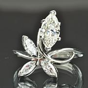 1.85 Carat Marquise Diamond Ring