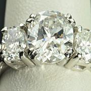 SALE 3.83 Carat Oval Diamond Ring / 2.65 Center / EGL Certified