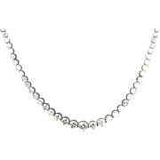SALE 15 Carat Graduated Diamond Necklace