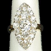 SALE 3.45 Carat Old Mine Cut Victorian Diamond Ring