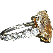 SALE 5.64 Carat Fancy Yellow Diamond Ring / GIA Certified