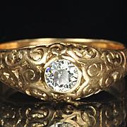 SALE Victorian Diamond Wedding Ring