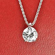 SALE .77 Carat Diamond Pendant